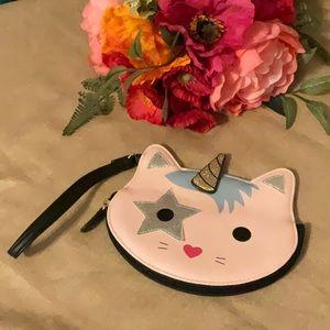 Betsey Johnson Unicorn Kitty Wristlet Like New